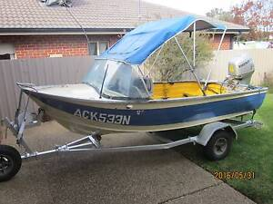 Stacer aluminium boat and 30hp Honda motor Tatton Wagga Wagga City Preview
