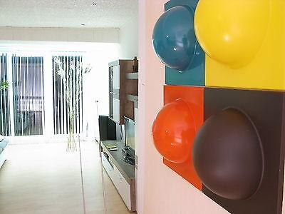 4 Bubble Elemente 70er 60er Style Bild 1 hellblau 1 braun 1 gelb 1 orange Nr 10