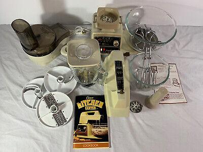 Vintage Oster Imperial Regency Kitchen Center W Mixer Blender Food Processor USA