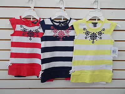 Toddler/Girls Nautica $45 2pc RoseCor, Navy, or Lt Yellow Capri Sets Size 2T-6X