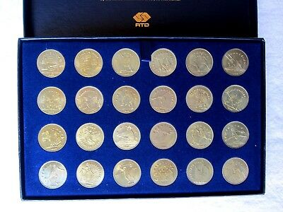 1984 Los Angeles Olympics Commemorative RTD Transit Tokens, Complete Set of 24