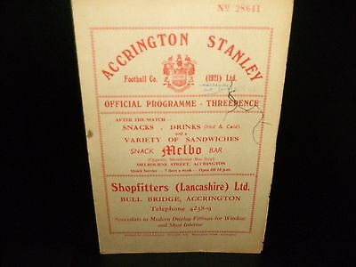 1956/1957  ACCRINGTON  STANLEY    V.    CHESTER    --LANCASHIRE SENIOR CUP
