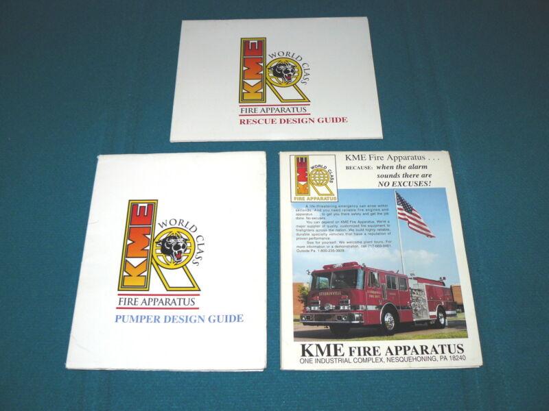 Lot of 3 : Kovatch FIRE APPARATUS Design Guide SPECS @ Catalog KME TRUCK
