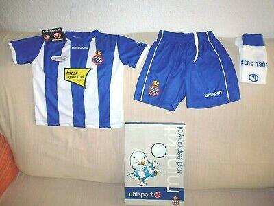 Equipación completa RCD ESPANYOL temporada 2008-09 shirt maglia shorts futbol