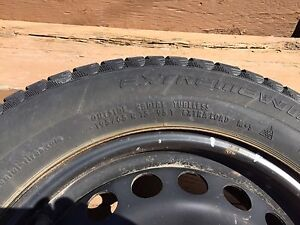 Continental extreme winter tires with rims