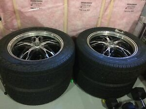 "Barley used set of 20""Zinik rims and two sets of tires."