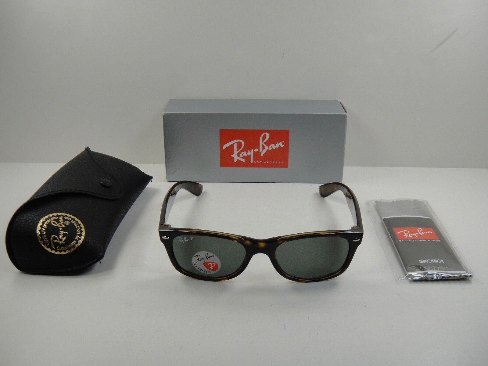 Ray Ban RB 2132 902/58 52mm Tortoise Polarized Shiny New