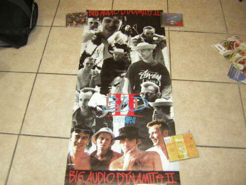 BIG AUDIO DYNAMITE PROMO POSTER BAD THE GLOBE 2  POSTER MICK JONES 1991 CLASH