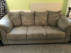 Sofa couch Microfiber soft green