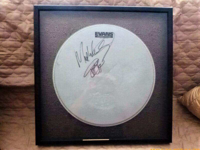 Springsteen Drummer MAX WEINBERG JSA SIGNED! Evans DrumHead- FRAMED JSA #AA14101