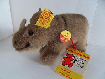 Steiff rhinoceros rhino miniature  IDs stuffed animal  419