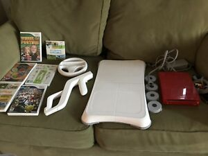 Red Wii Console and games bundle