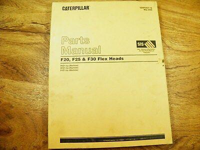 Cat Caterpillar F20 F25 F30 Flex Head Parts Manual