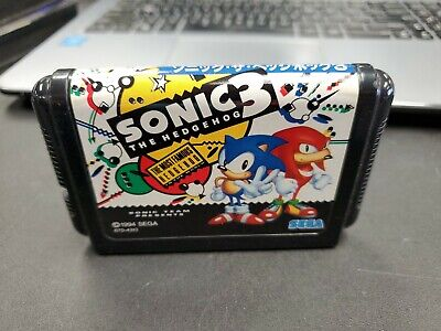 SEGA GENESIS SONIC 3 JAPAN GAME MEGADRIVE