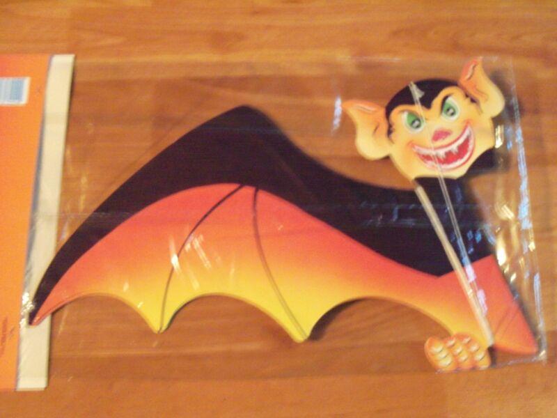 "24"" Bat Halloween Honeycomb Hanging Decoration Vintage Paper Fantasies NOS"