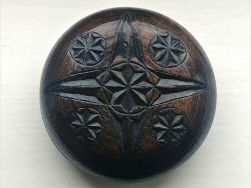 Antique 19th Century Folk Art Carved Oak Mealy Beg / Butter Bowl - c.1840