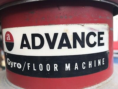 Advance Gyro Floor Machine - 14 13 Hp Works Perfectly Plus Pads