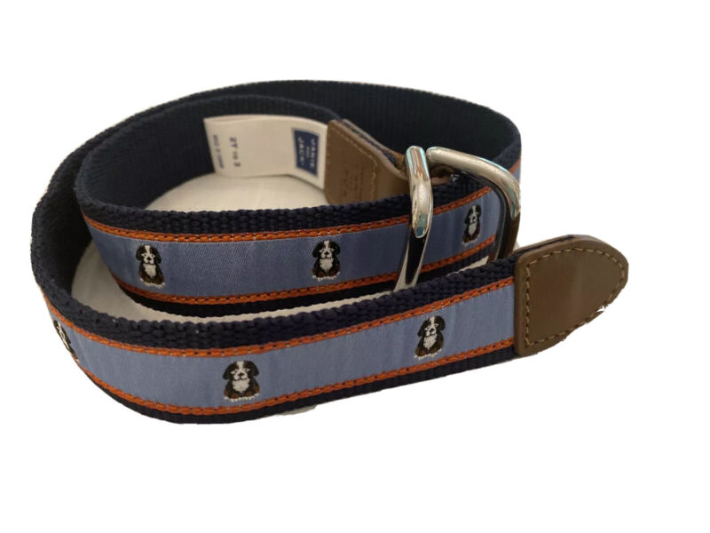 Janie And Jack Belt Embroidered Puppy Bernese Mountain Dog 2T-3T