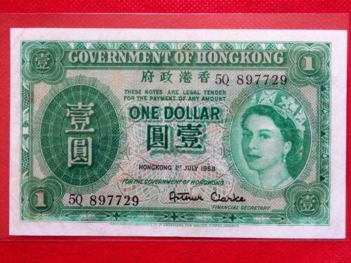 1958 HONG KONG ONE DOLLAR OLD BANKNOTE