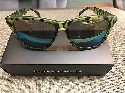 Nectar Sunglasses GENUINE Bungalow Green Tortoise Frame Gold Lens Shades (Nectar Gold)