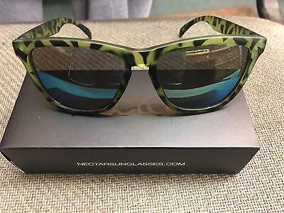 Nectar Sunglasses GENUINE Bungalow Green Tortoise Frame Gold Lens Shades (Tortoise Gold)