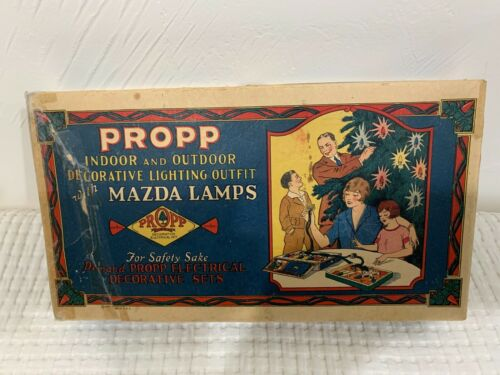 PROPP Indoor/Outdoor XMAS TREE LIGHTING Outfit w/Mazda Lamps #72 Vintage 1927