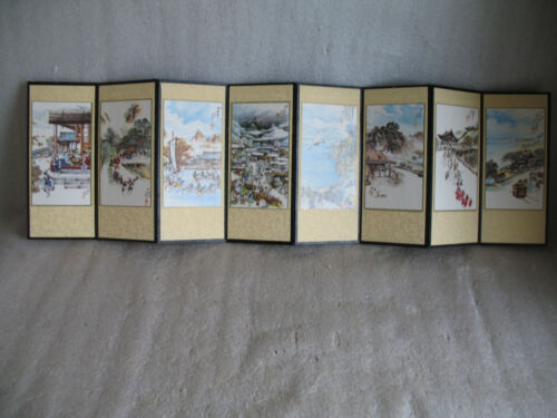 Vintage Chinese Japanese? Fold Out Accordian Style Book Chinese Folk Art