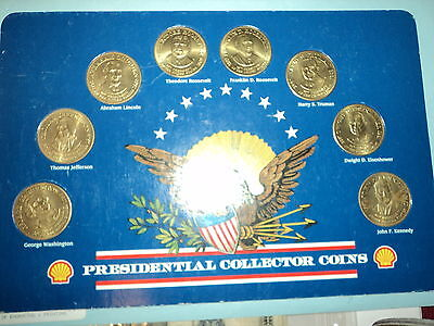 Shell presidential bronze coin set cir. 1992 great condition