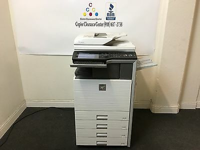 Sharp Mx-2600n Color Copier Printer Scanner Fax Staple Finisher Low Meter 156k