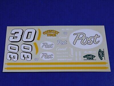 Michael Waltrip #30 Post Cereals Pontiac Grand Prix 1/24 JNJ Model Car Decals
