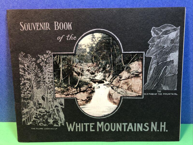 1930s Souvenir Booklet White Mountains NH - Hartman Post Card Publisher Man Mt.