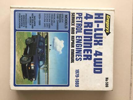 Gregory's Service /Repair Manual Toyota HiLux 1979 to 1989 No.506 Cronulla Sutherland Area Preview
