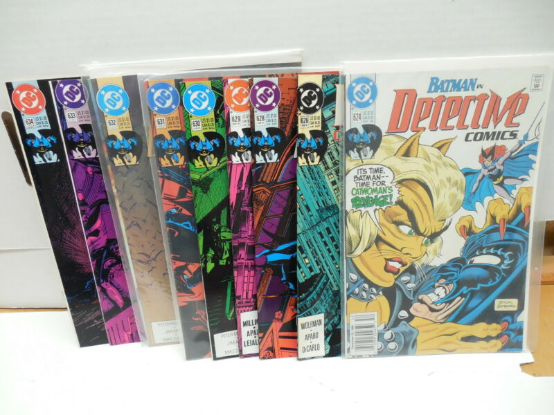 Detective Batman DC Comic Books X9 Dick Sprang Wolfman Aparo Mandrake