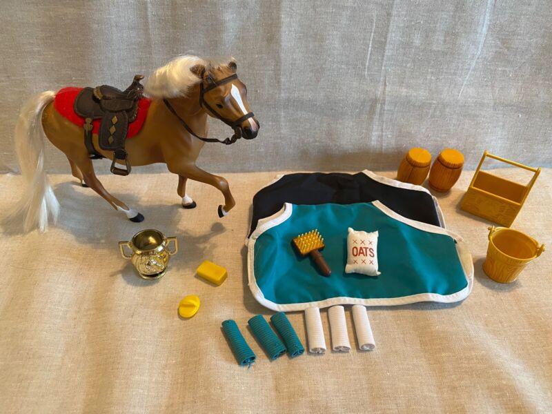 Marchon Plastic Toy Western Horse, Trophy, Saddle, Accessories, Super Cute! 1988