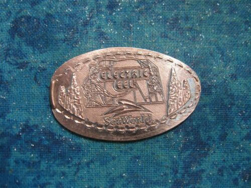 ELECTRIC EEL SEA WORLD Elongated Penny Pressed Smashed 6
