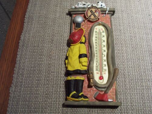 """Spoontiques Vintage Look Fire Station Decorative Thermometer- Hangs 8"""""""