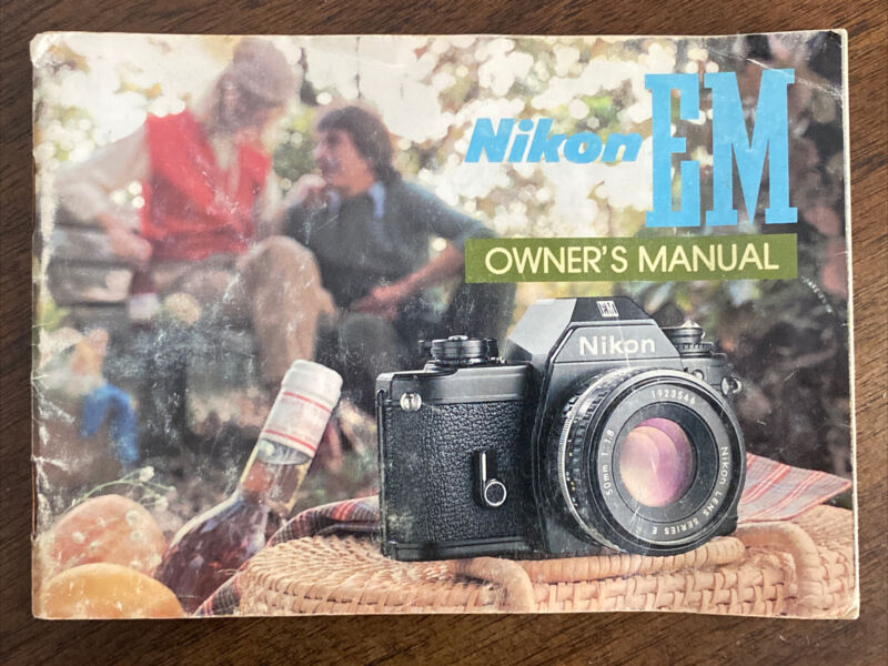 Nikon EM  Owners  Instruction Manual **FREE SHIPPING**