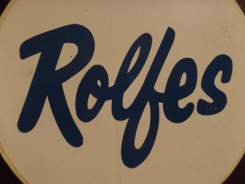 Sticker-ROLFE'S,Well Drilling,Farmingdale,ME.original Rolfes.Large.melaneybuy