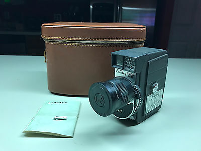Old Vtg Collectible MANFIELD HOLIDAY ZOOM MM Movie Camera With Leather Case