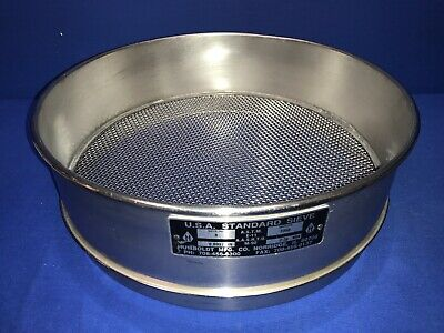 Humboldt No. 8 Usa Standard Testing Sieve Stainless Steel 12dia X 3-14deep