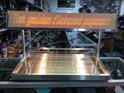 Server Popcorn Warmer Merchandiser with Display case light Open Display Tray