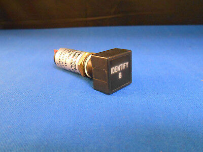10530sp-41 Jay-el Push Switch Light Blk W Red Legend New Old Stock