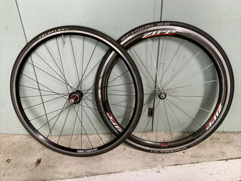 Zipp 303 F, Velocity Aero Head/ Tune Campagnolo R Wheel Set, 9/10 Speed, 700c