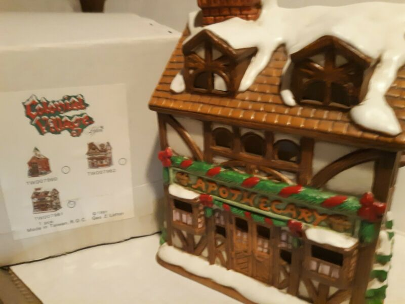 Christmas Colonial Village by Lefton-Brenner