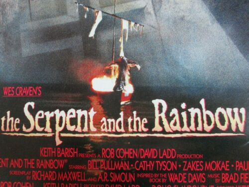 THE SERPENT AND THE RAINBOW Original THEATER-USED Movie Poster 27x40 SS - C4