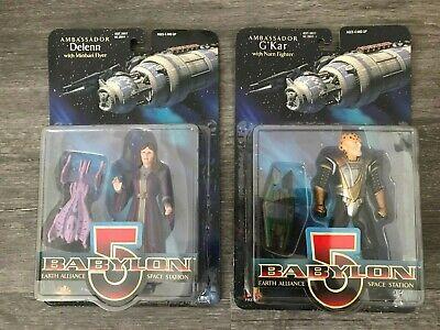 """1997 Babylon 5 G'Kar With Narn Fighter & AMBASSADOR DELENN B29 6"""" Action Figure"""