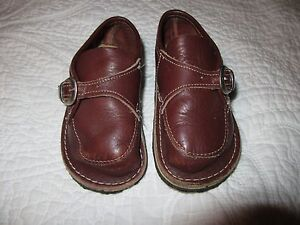 HTF-Bear-Beet-Monk-Strap-Shoes-Brown-Soft-Leather-Size-8
