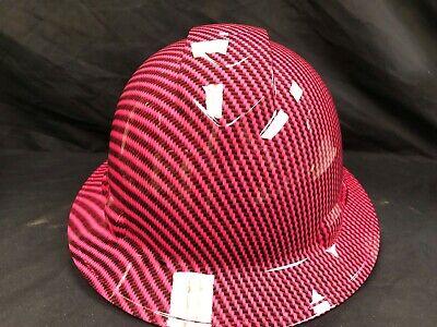 New Full Brim Hard Hat Custom Hydro Dipped Pink Carbon Fiber. Free Shipping