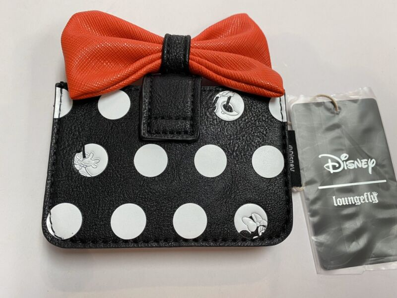 Loungefly Disney Minnie Mouse Polkadot Black And White Cards Holder