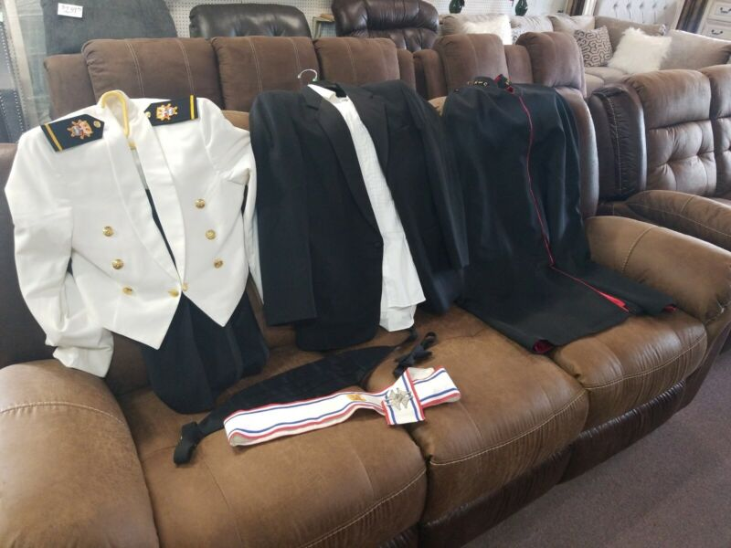 Knights of Columbus Lot Sash Cummerbunds Cape,Tie, sash, Medal Jackets pants+